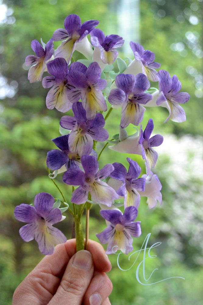 Sugar flowers - African violets