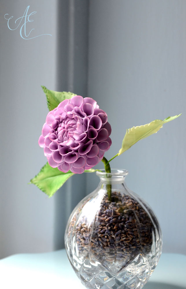 Sugar flowers - pompom dahlia
