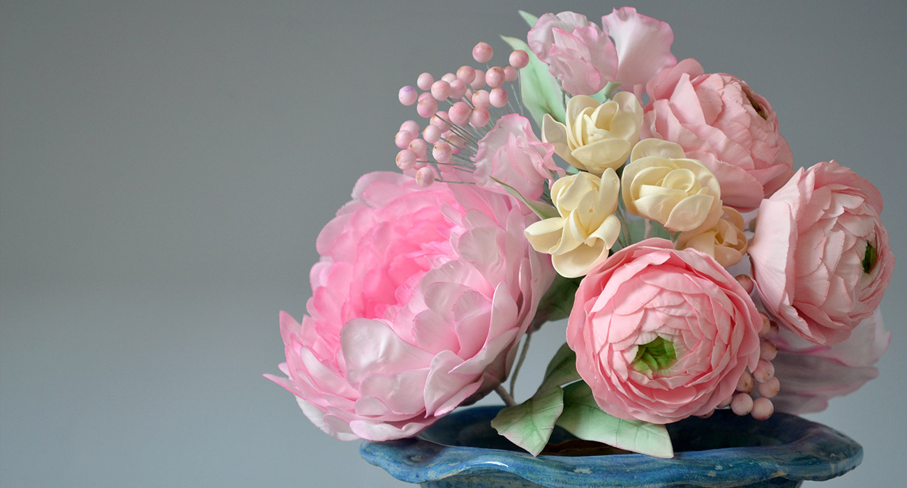 Sugarwork of peonies