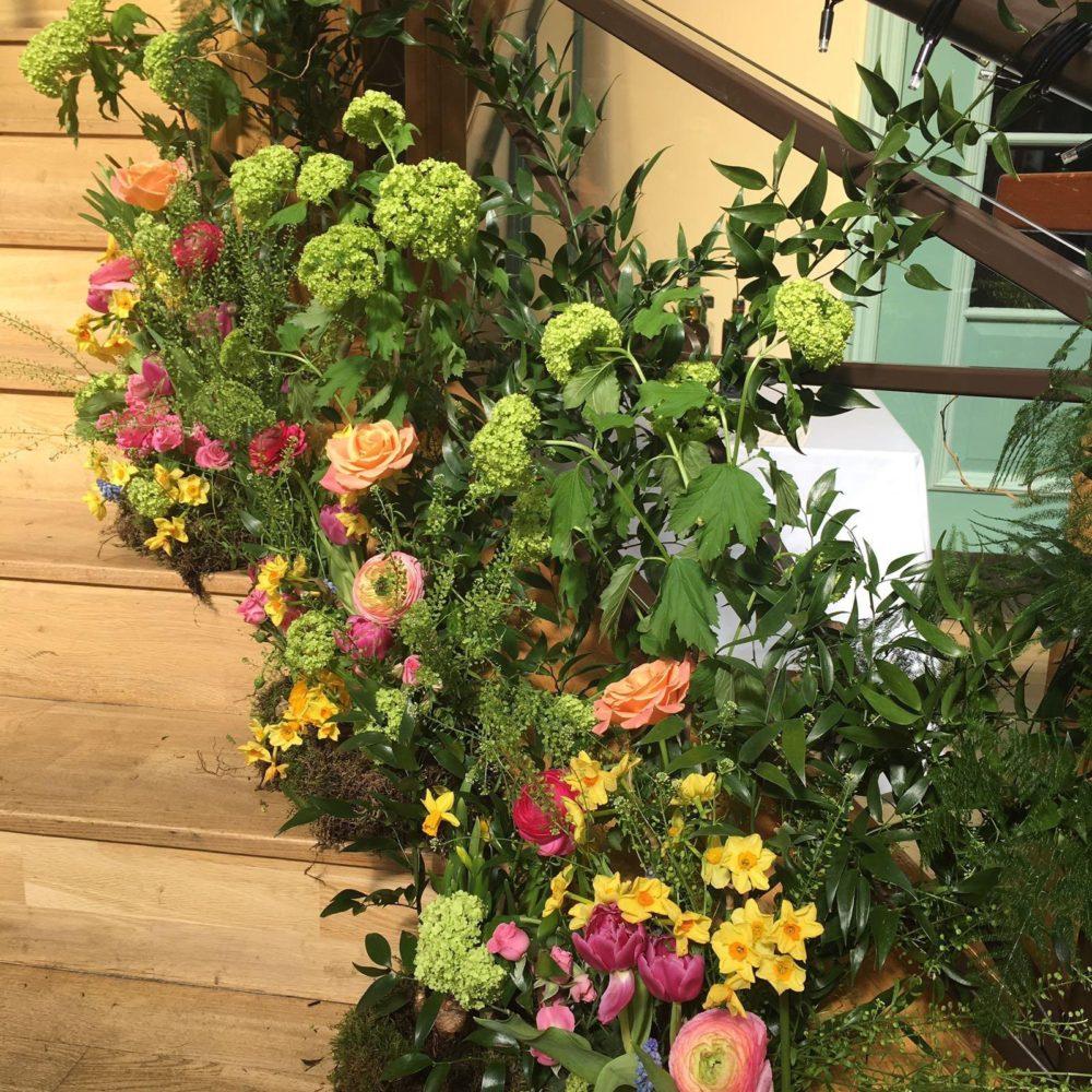 Wedding venue flowers