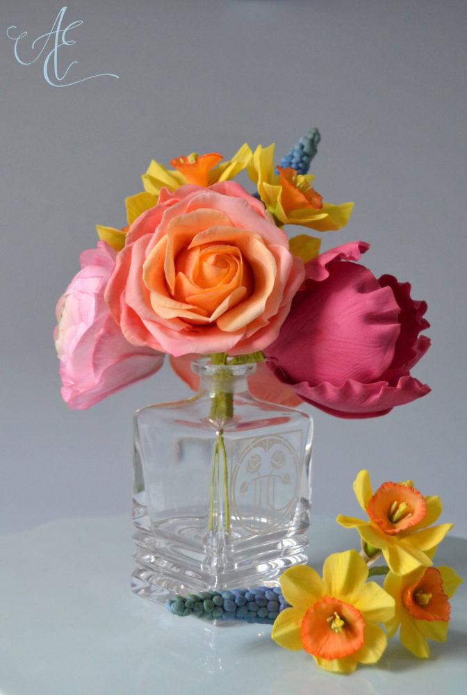 vibrant sugar flowers