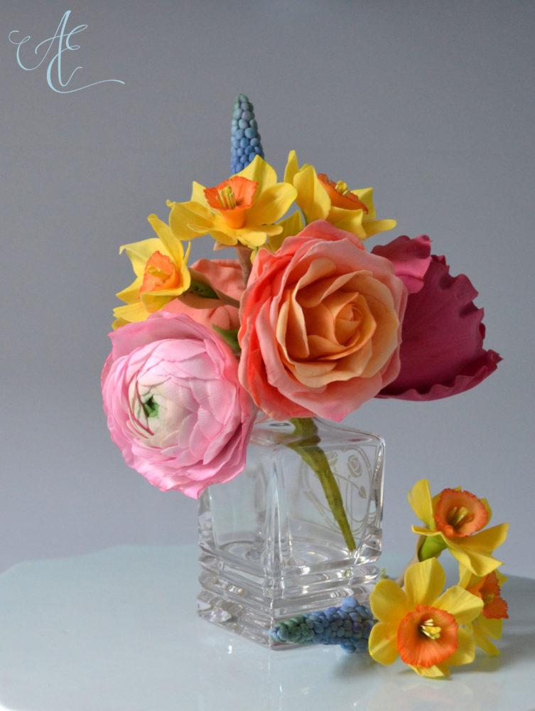 colourful sugar flowers