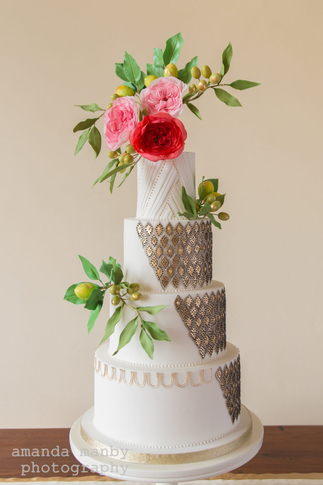 Moroccan-inspired wedding cake