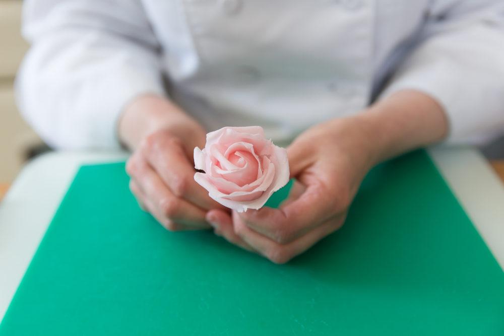small sugar rose