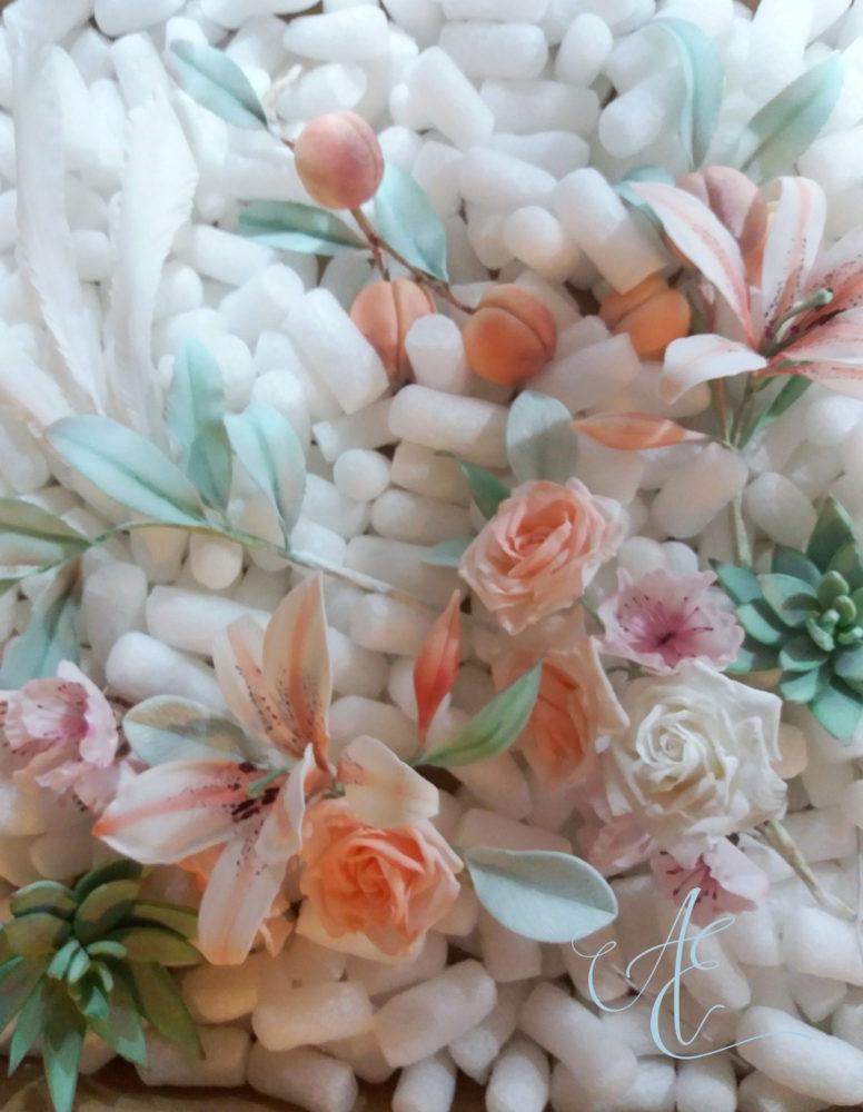 sugar flower and foliage arrangements