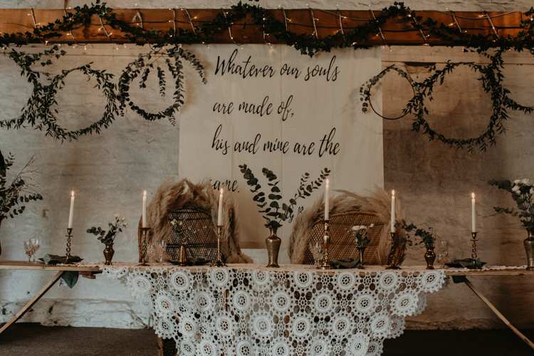 bohemian wedding styled shoot