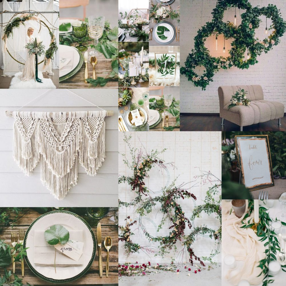bohemian wedding photo shoot inspiration mood board
