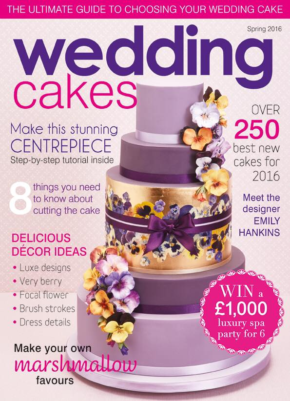 featured in wedding cakes magazine issue 58