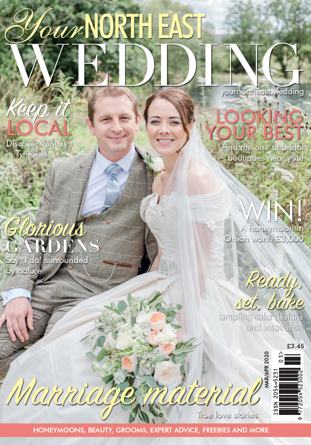 featured in your north east wedding magazine march 2020