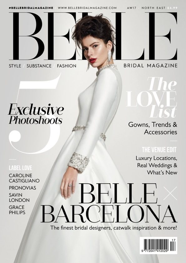 featured in belle bridal autumn winter 2017