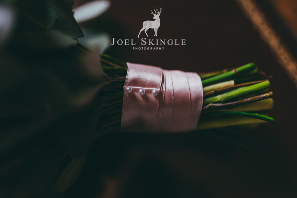 Hand tied bouquet ribbon