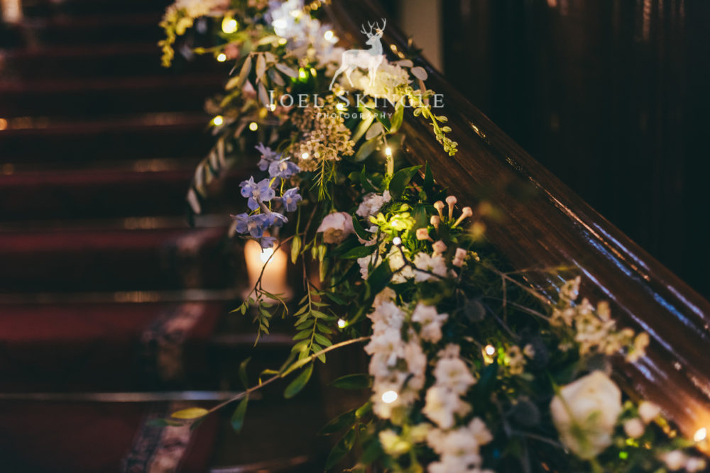 Staircase flowers by Twisted Willow Floristry