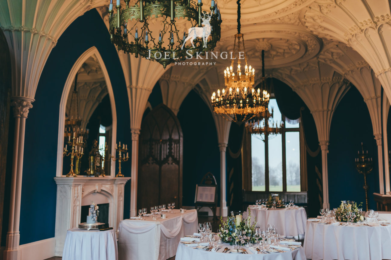 intimate wedding table settings at allerton castle