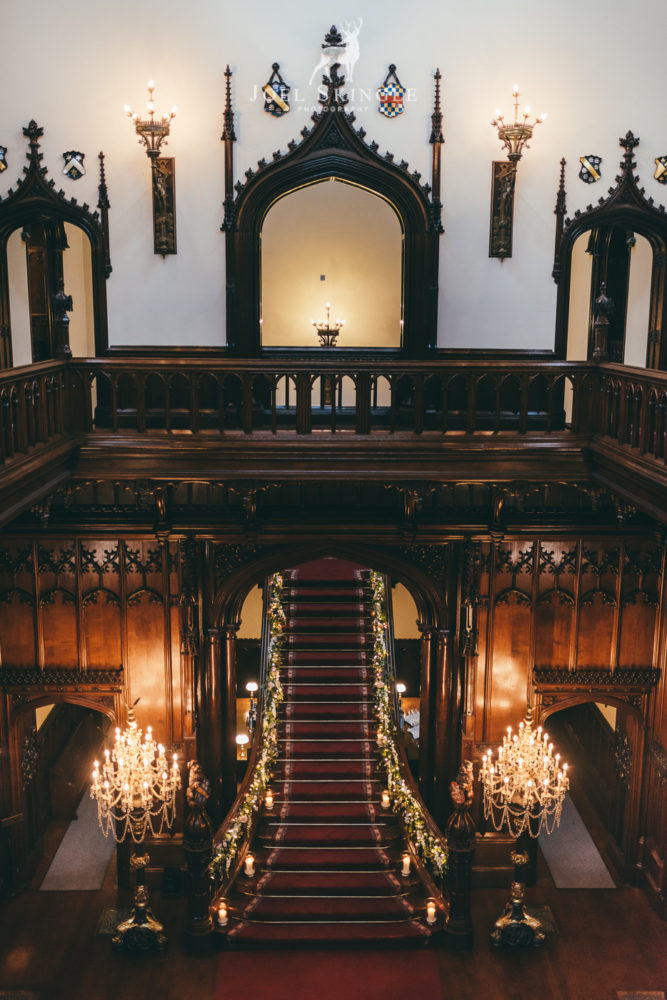 Allerton Castle gallery and staircase