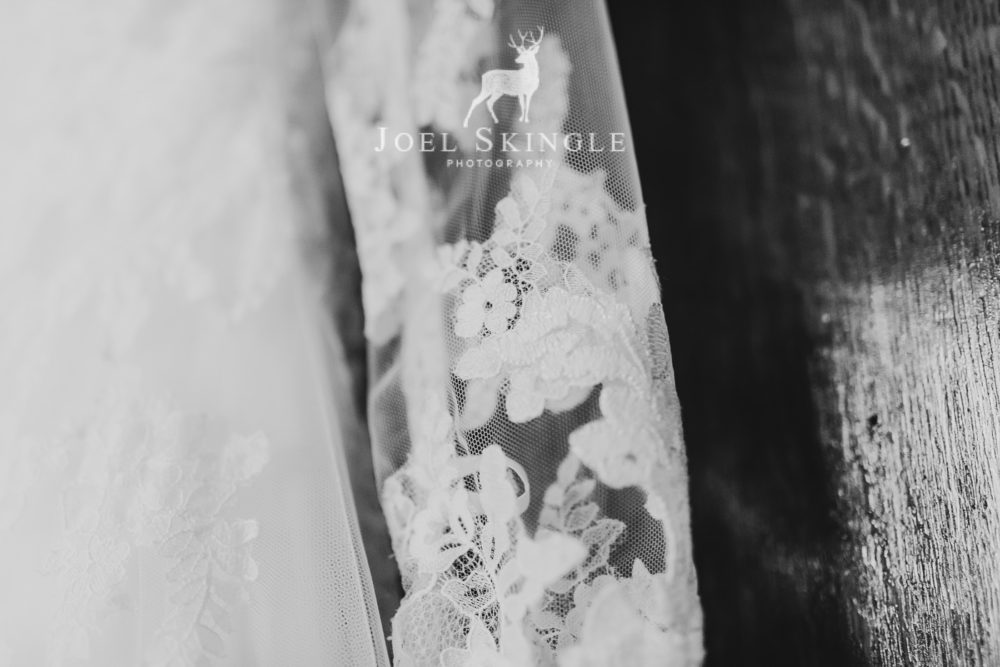 Wedding dress lace close up