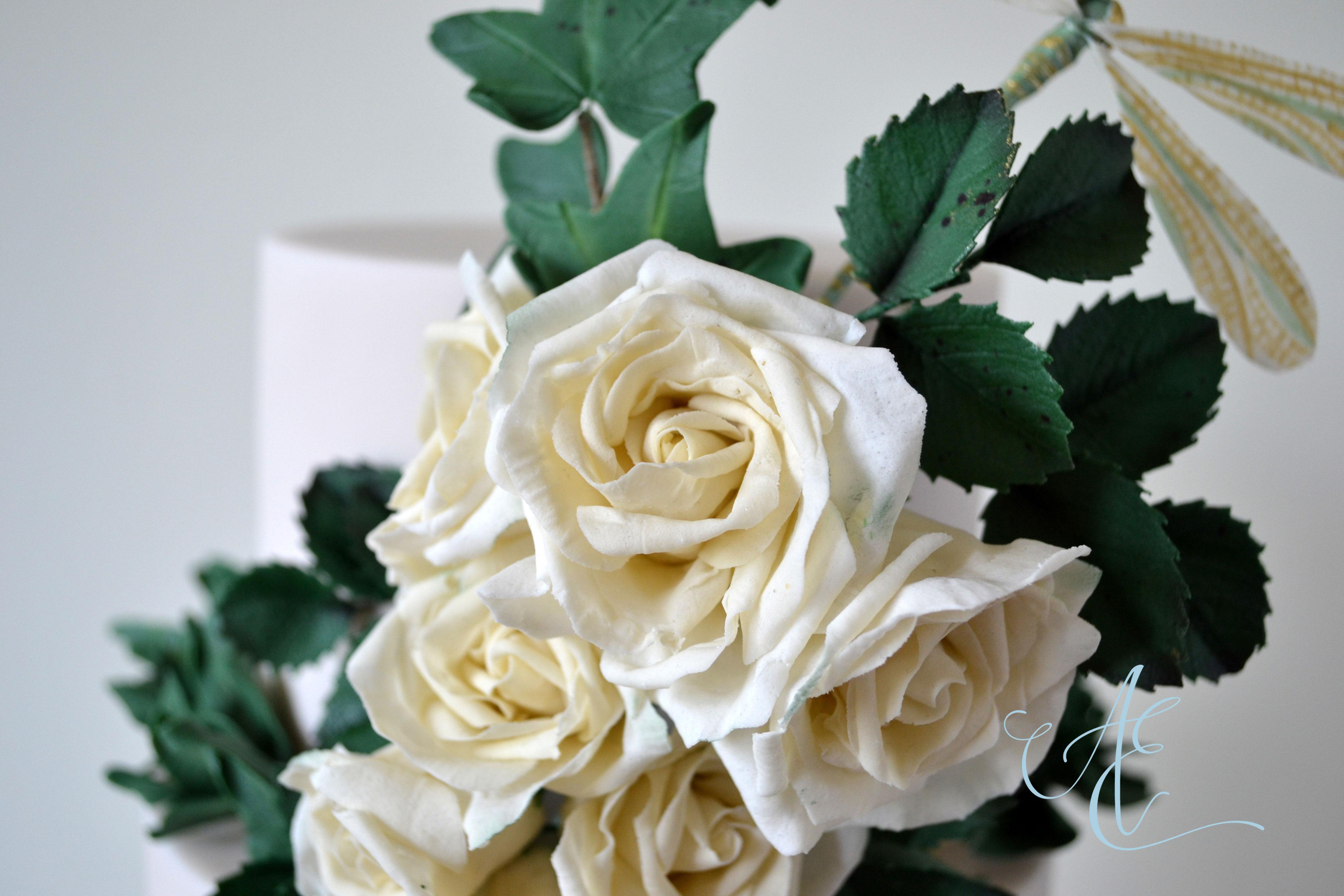 ivory sugar roses