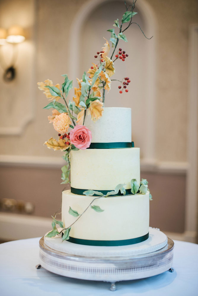 autumnal buttercream wedding cake