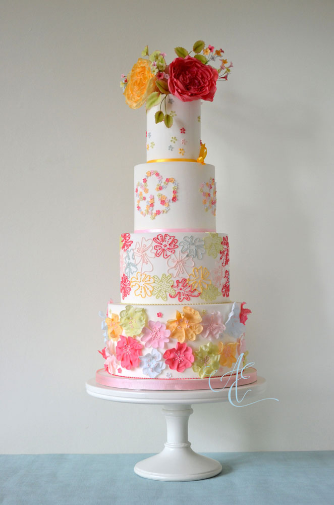 Wedding cake - vibrant design