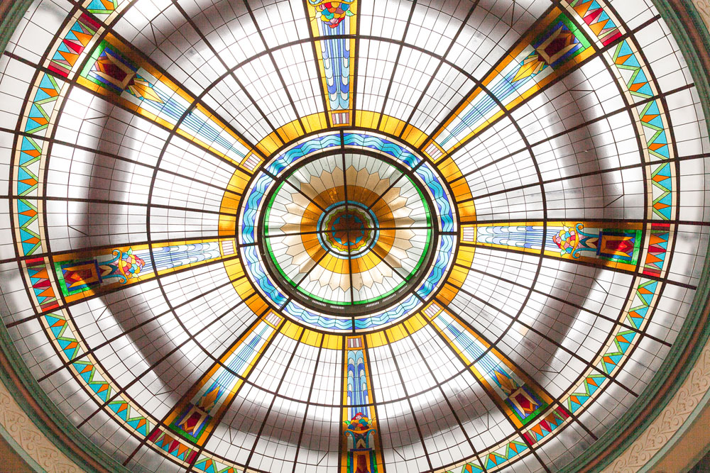 stained glass dome inspiration for stained glass-inspired wedding cake