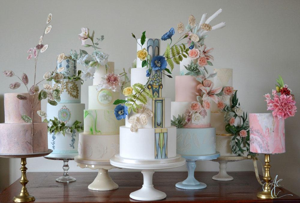 Amanda Earl Cake Design wedding cake consultation display cakes
