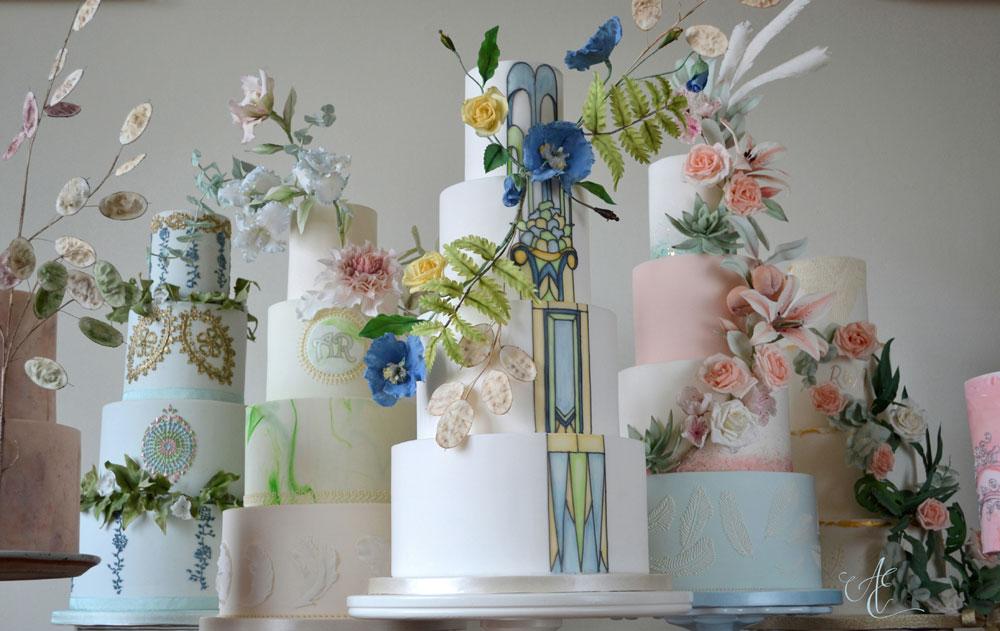 Amanda Earl Cake Design wedding display cakes