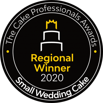 Regional Winner 2020 The Cake Professionals Awards Small Wedding Cake
