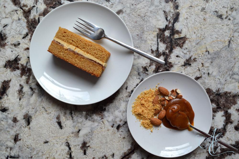 caramel and praline