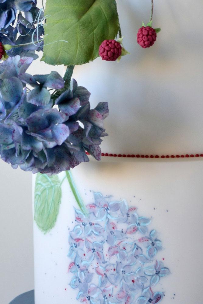 hand painted hydrangea