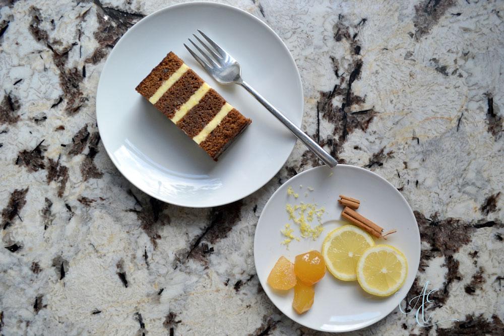 stem ginger and lemon