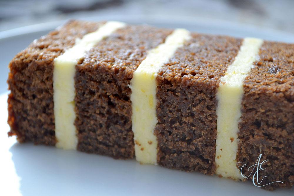 stem ginger and lemon cake close up