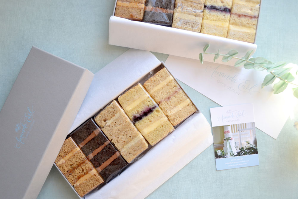 vegan wedding cake samples by post