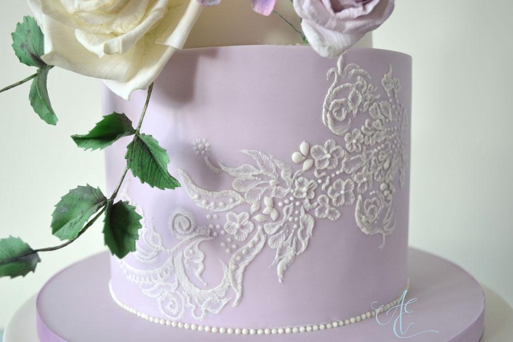 close up lace piping